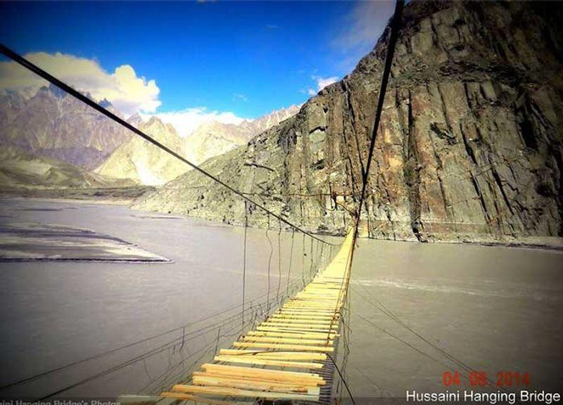 Hängebrücke von Hussaini