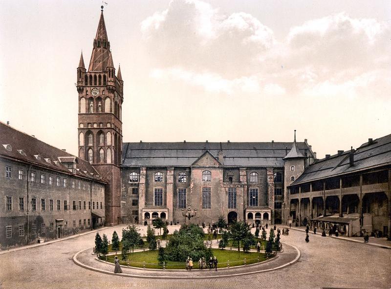 Двор Кенигсбергского замка в 1900 году
