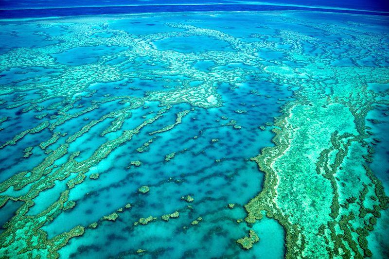 vista aérea de la Gran Barrera de Coral