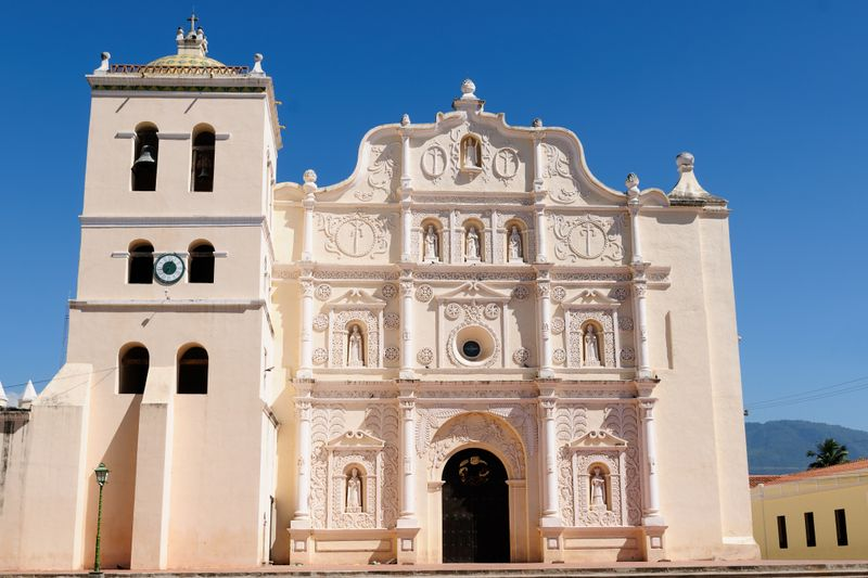 The cathedral in Comayagua, Honduras