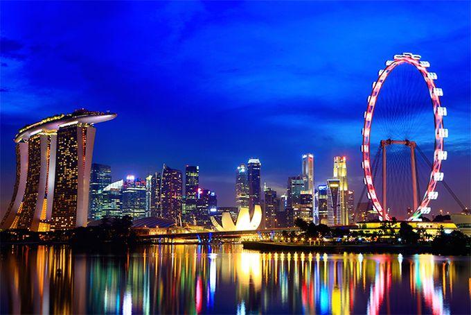 Singapurs Skyline