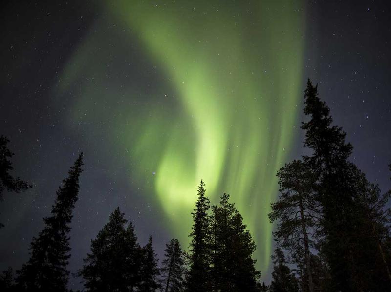 aurora boreal en kiruna suecia