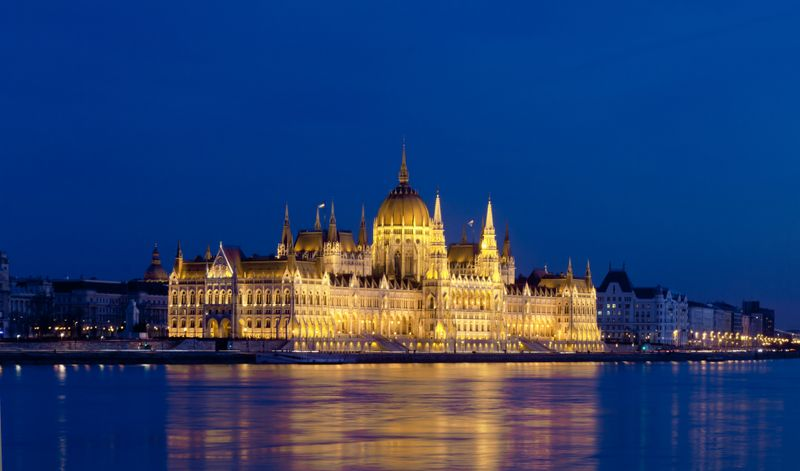 Budapest - night view from the Danube