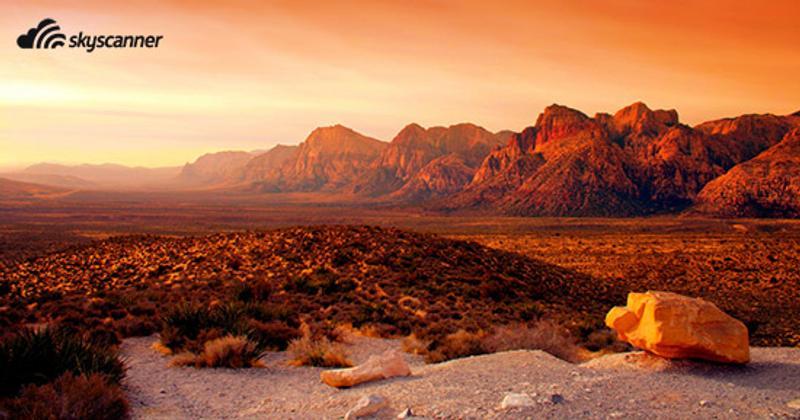 หน้าผาหินแดงเรดร็อค (Red Rock Canyon) ลาสเวกัส (Las Vegas) รัฐเนวาดา (Nevada)