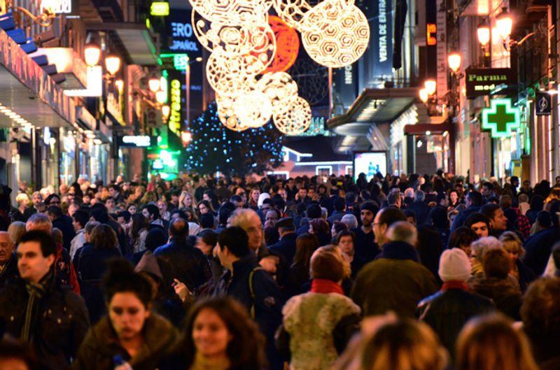 Праздничный шопинг в Мадриде
