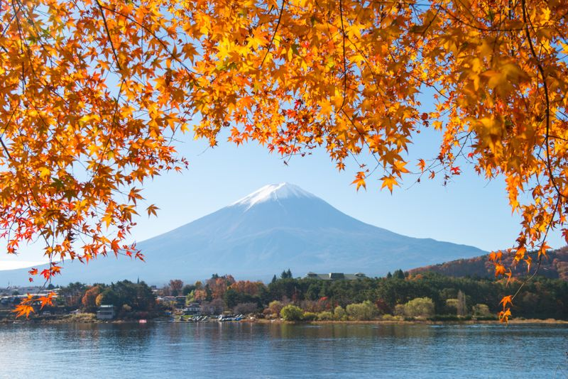 Mount Fuji from the Five Lakes, Japan