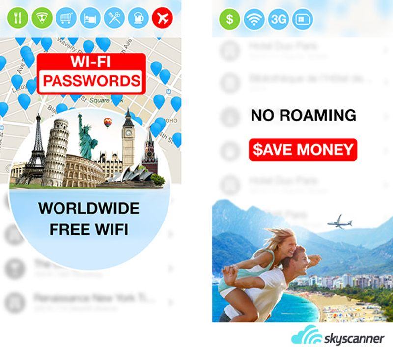 ตัวอย่างหน้าจอการทำงานของแอพพลิเคชั่น WiFi Map Pro
