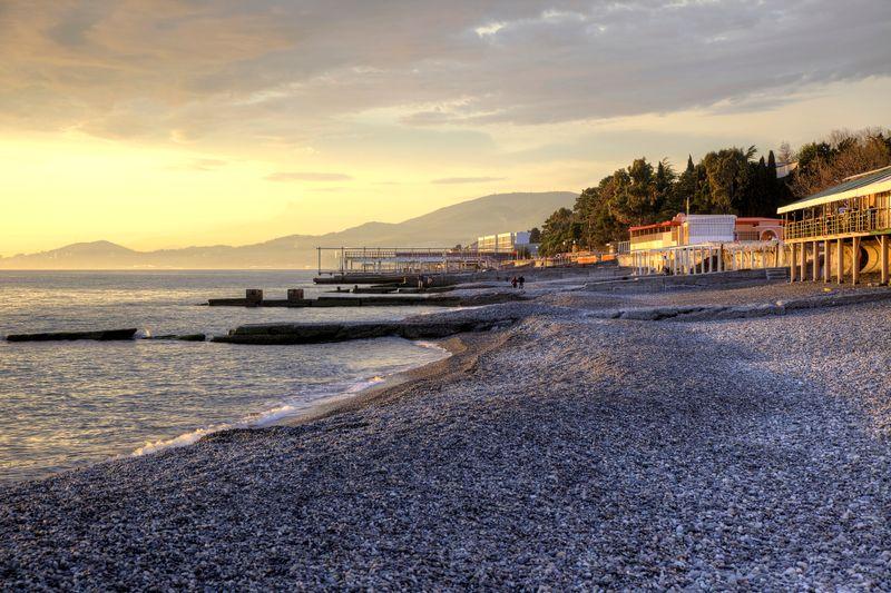 Черноморское побережье зимой