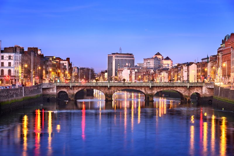 The River Liffey in the Irish capital Dublin