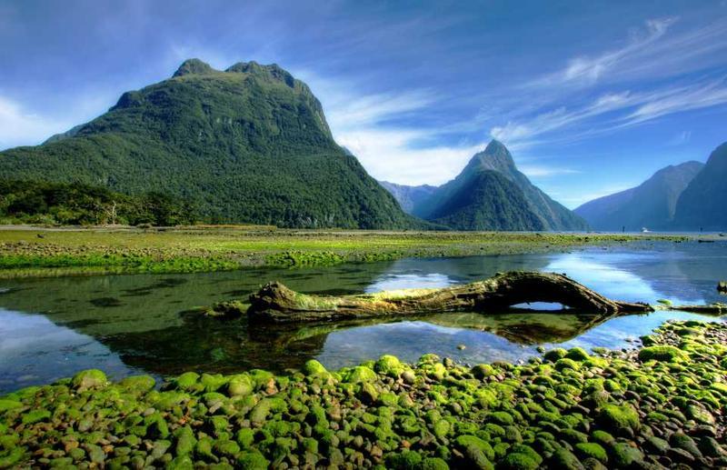 Пик Митре над Милфордским фьордом, Новая Зеландия