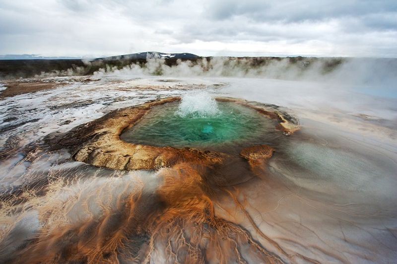 aguas termales de hveravellir en islandia