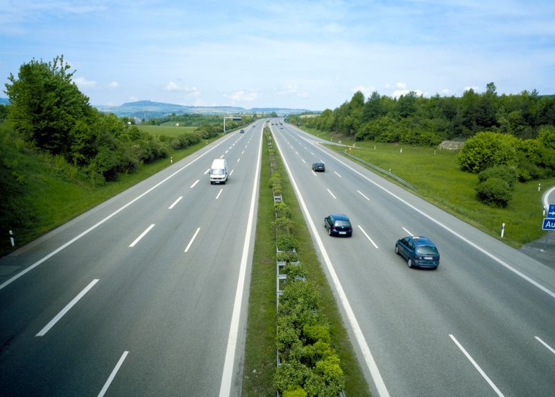 No stopping: a German autobahn