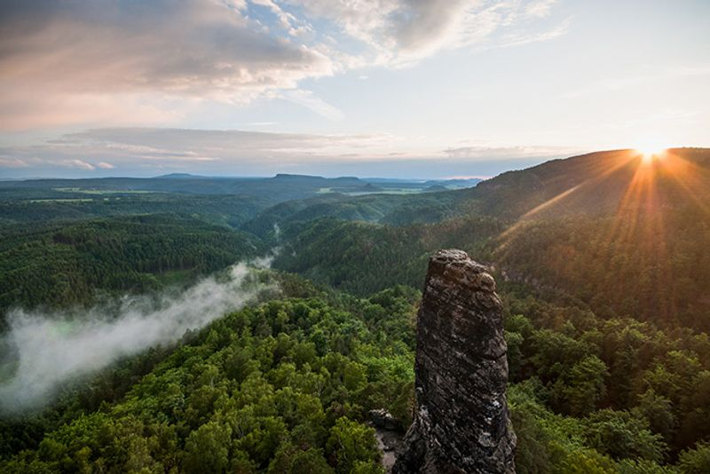 Пейзаж в районе Грженско в Чешской Швейцарии