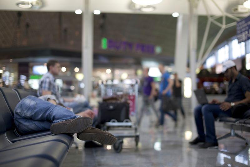 Sân bay cũng là nơi lý tưởng để ngủ đấy chứ