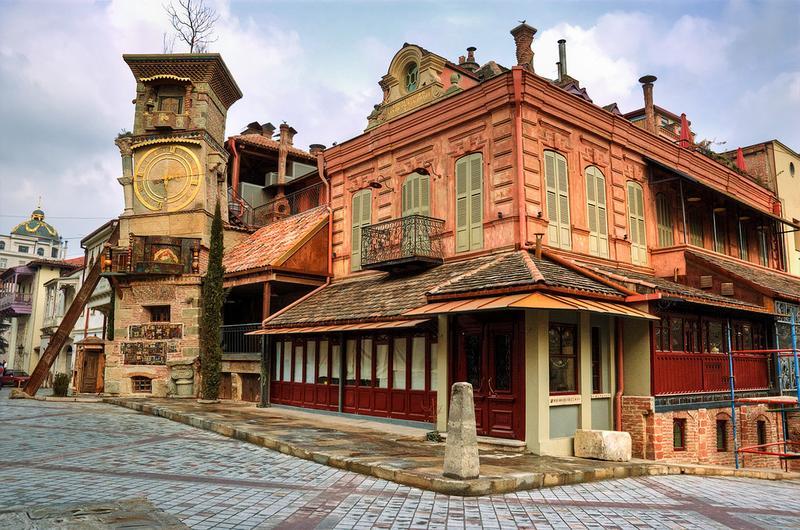 Театр марионеток Резо Габриадзе в Тбилиси, Грузия