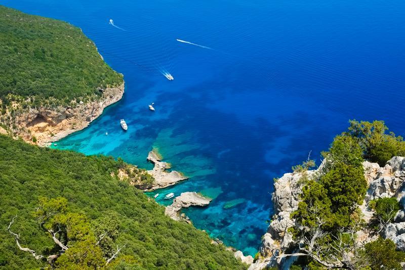Der Strand von Cala Biriola, Sardinien