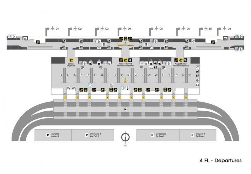 เคาน์เตอร์เช็คอินของสายการบินต่างๆ ที่สนามบินสุวรรณภูมิ