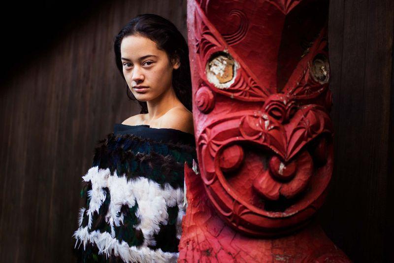 """Девушка из коренного новозеландского народа маори из фотопроекта Михаэлы Норок """"Атлас красоты"""""""