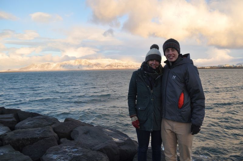 Tom and his girlfriend in Iceland
