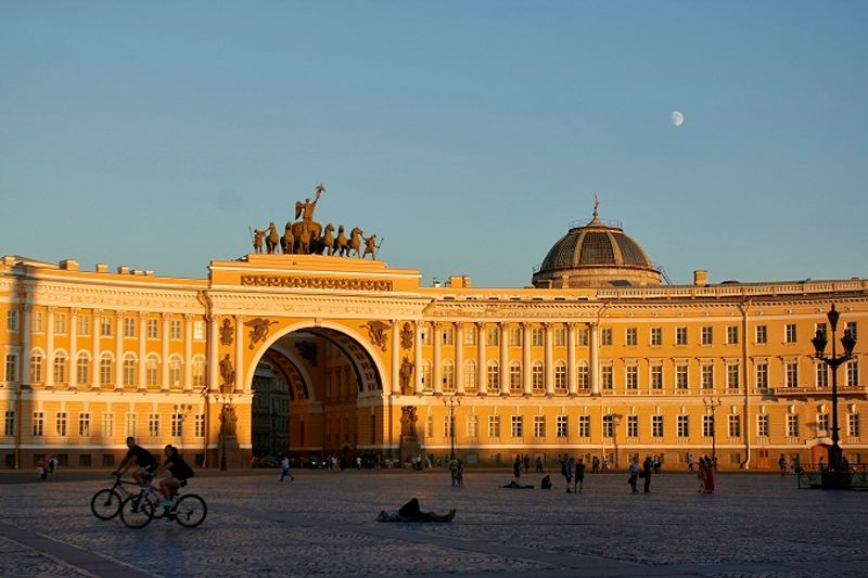 Plaza del palacio en San Petersburgo Rusia