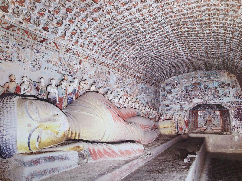 Пещеры Могао или Пещеры тысячи Будд в Китае