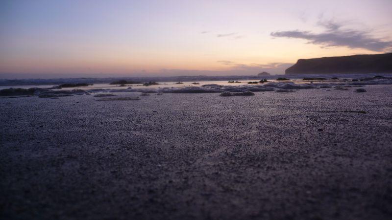 Sunset at Polzeath Beach, Cornwall