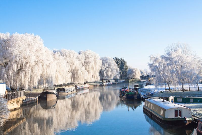 Зима в Кембриджшире, Великобритания