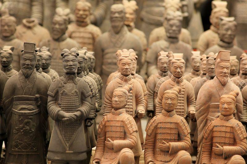 Терракотовые воины в 35 км от Сианя в китайской провинции Шаньси