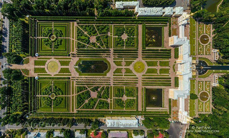 Peterhof, Ansicht von oben
