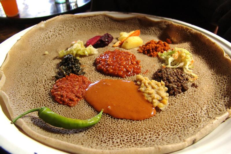Ынджера, традиционное эфиопское блюдо