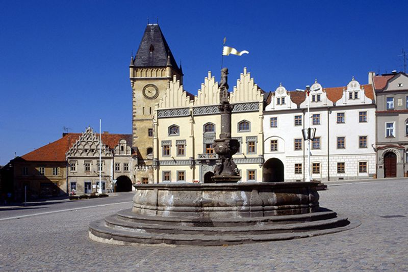 Городская площадь в Таборе, Чехия