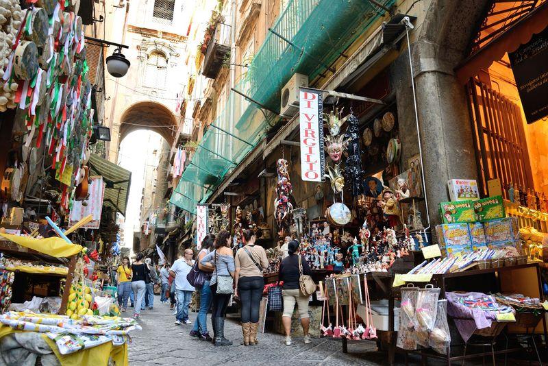 Italia Napoli Mercatino Natale