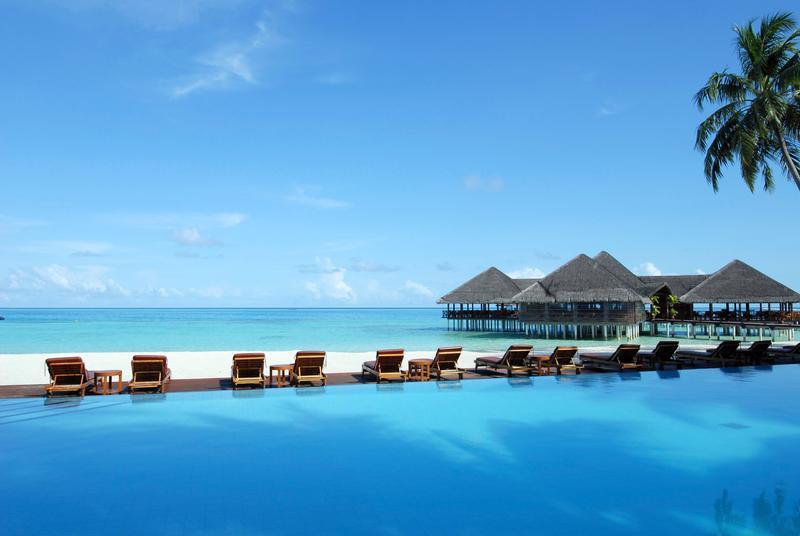 Salah satu resort di Maldives