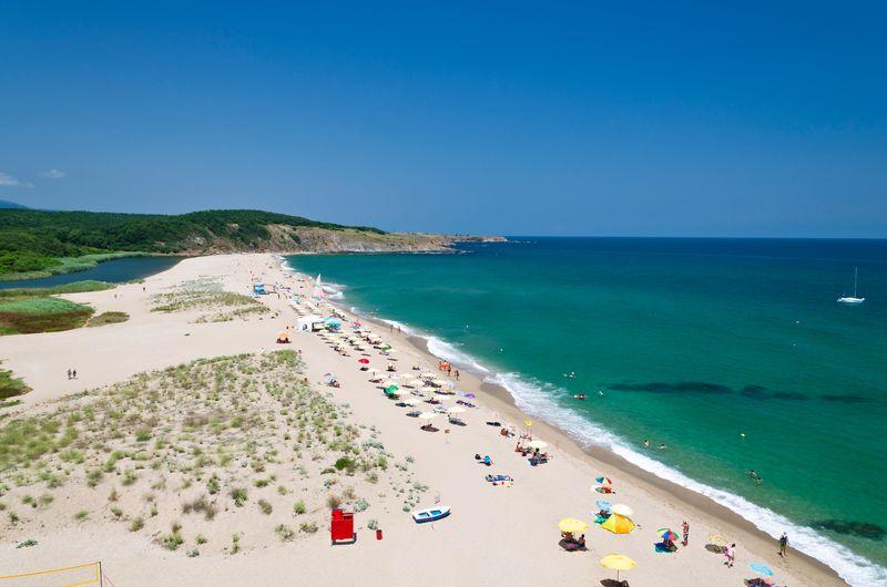 Sandy beach in Bulgaria