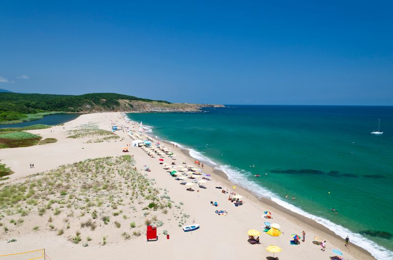 Летний пляж в Болгарии