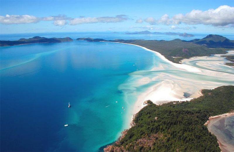 หาดไวท์เฮเวน หมู่เกาะไวท์ซันเดย์ ประเทศออสเตรเลีย  (Whitehaven, Whitsunday Islands, Australia)