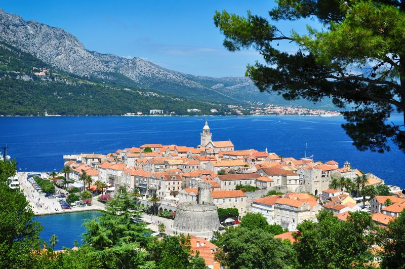 Korcula island in Croatia
