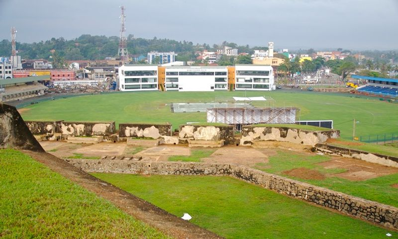 Galle international cricket stadium viewed from moon bastion ©Shehal Joseph / Flickr