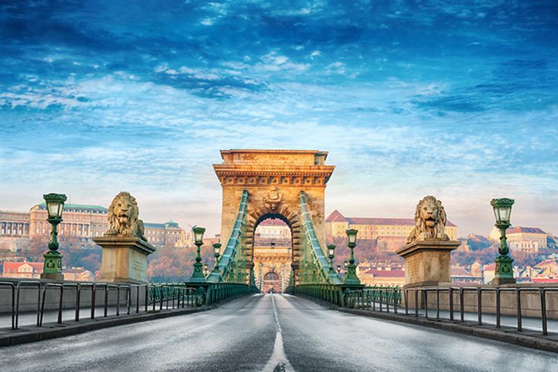 Цепной мост Сечени в Будапеште, Венгрия