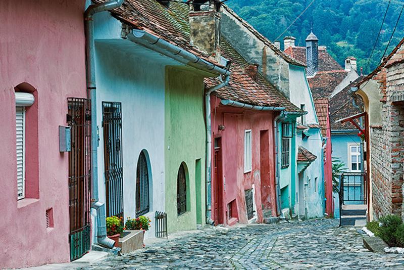 Улица в Сигишоаре, Румыния