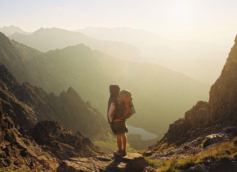 Походник в горах