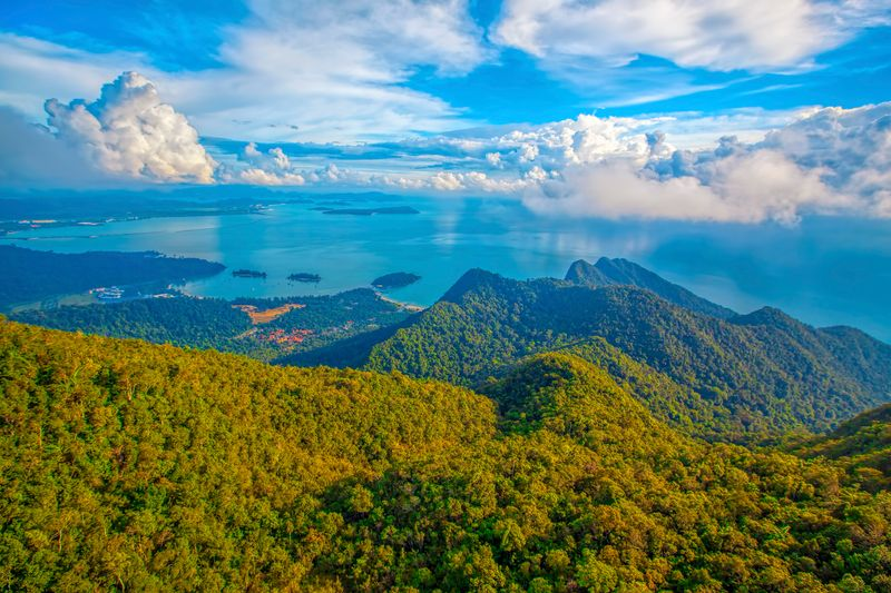 Amazing viewpoint of Langkawi and its greenery from the top