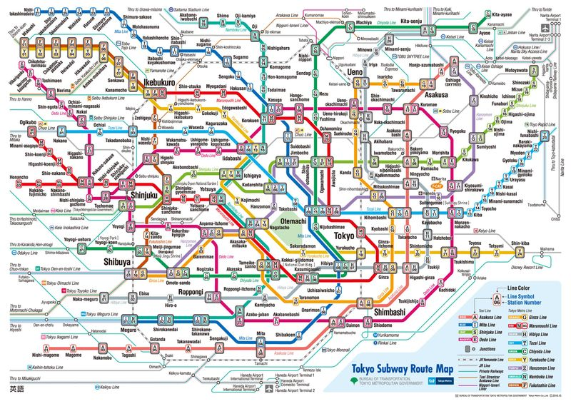 แผนที่รถไฟใต้ดินโตเกียว