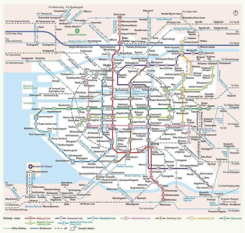 แผนที่รถไฟโอซาก้า