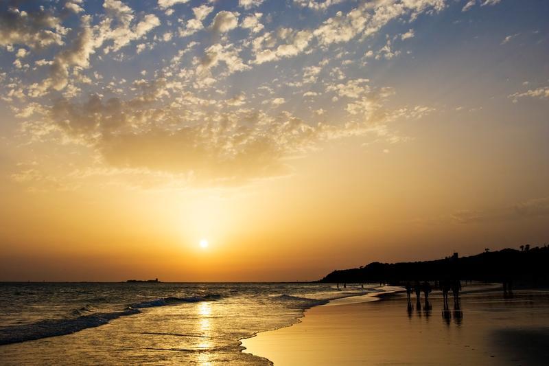 Praias da Espanha - Cadiz Praia enlameada
