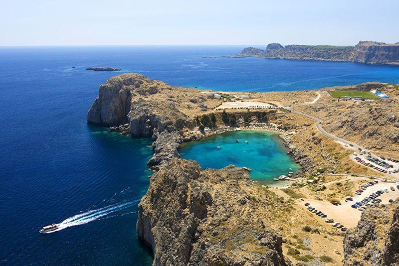 Залив Святого Павла в Линдосе, Родос, Греция
