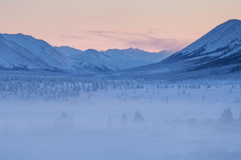 Зимний якутский пейзаж