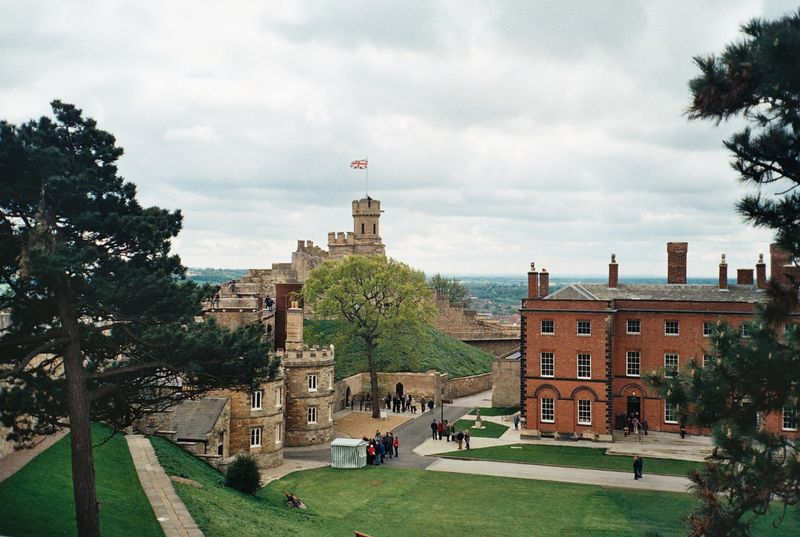 Lincoln Castle, aerial view