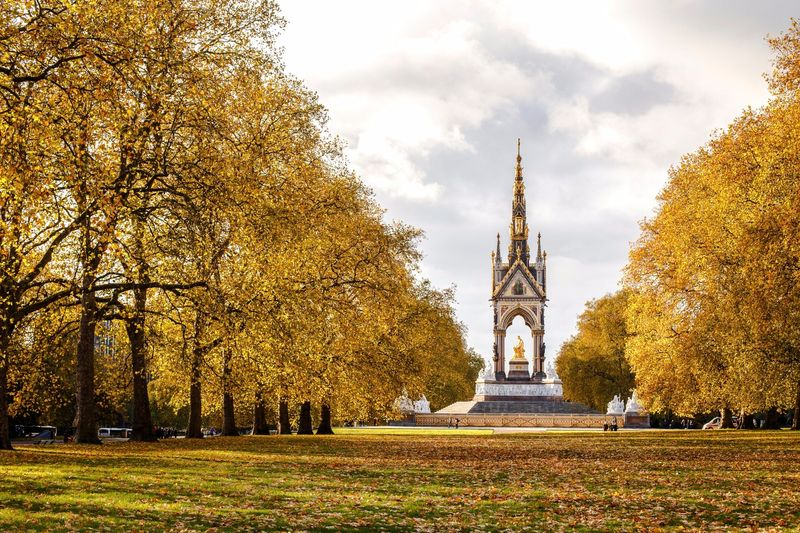 Albert Memorial, Kensington Gardens in the autumn