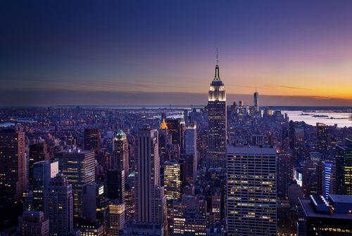 ニューヨーク行きの航空券